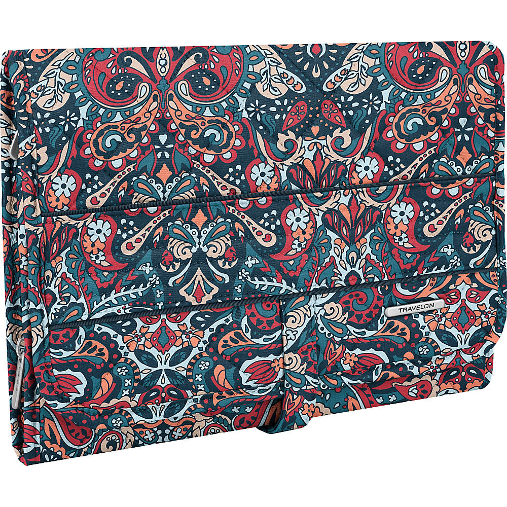 Travelon Boho Trifold Hanging Toiletry Kit Summer Paisley/Deep Turquoise Interior - Travelon Toiletry Kits - Travel Accessories, Toiletry Kits