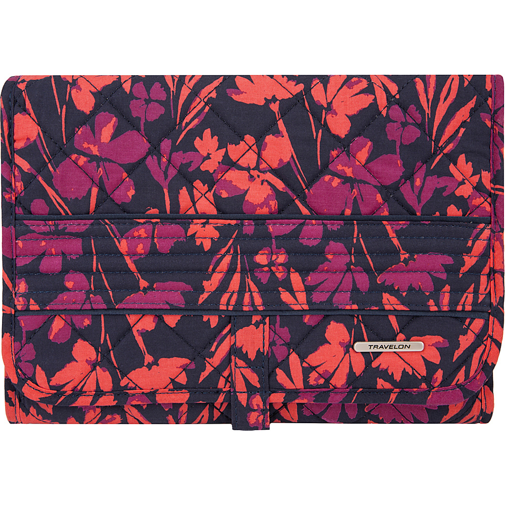 Travelon Boho Trifold Hanging Toiletry Kit Painted Floral - Travelon Toiletry Kits - Travel Accessories, Toiletry Kits