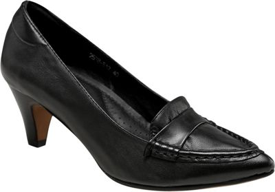 Vicenzo Footwear Adrienne Low Heel Women Leather Shoes 9 - Black - Vicenzo Footwear Women's Footwear
