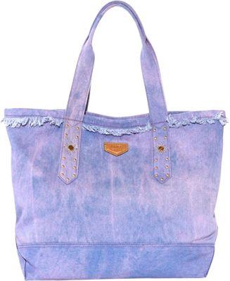 Aimee Kestenberg Handbags Cannes Denim Tote Pink Tie Dye Denim - Aimee Kestenberg Handbags Fabric Handbags