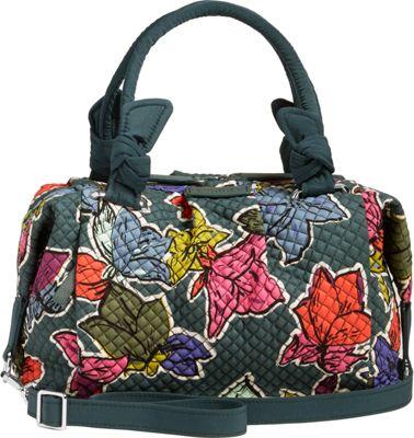 Vera Bradley Hadley Satchel Falling Flowers - Vera Bradley Fabric Handbags