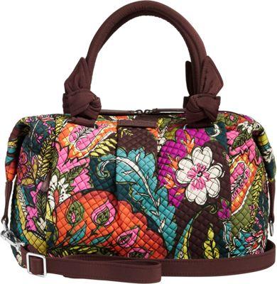 Vera Bradley Hadley Satchel Autumn Leaves - Vera Bradley Fabric Handbags