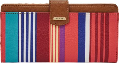 Relic RFID Checkbook Red Stripe - Relic Women's Wallets