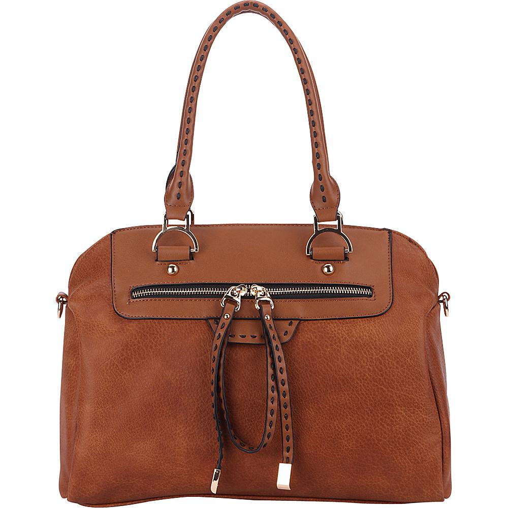 MKF Collection by Mia K. Farrow Doriam Satchel Brown - MKF Collection by Mia K. Farrow Manmade Handbags - Handbags, Manmade Handbags