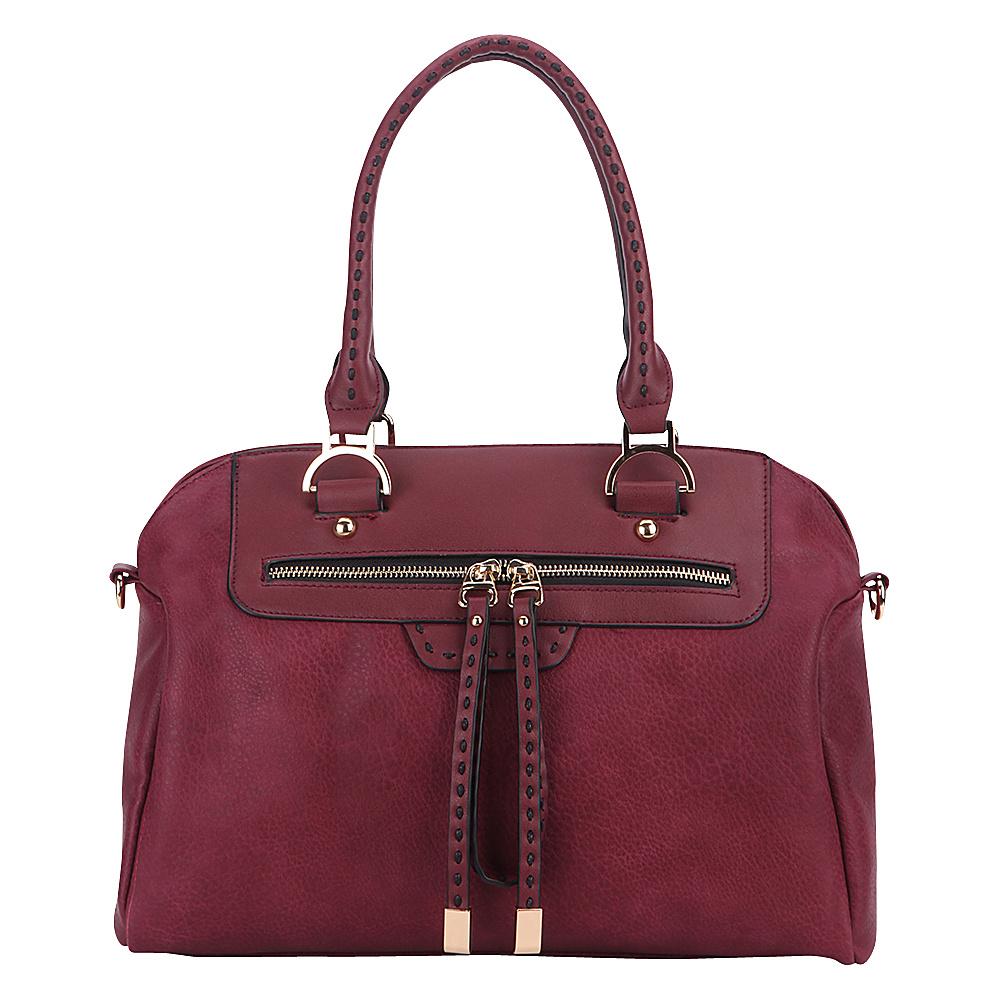 MKF Collection by Mia K. Farrow Doriam Satchel Burgundy - MKF Collection by Mia K. Farrow Manmade Handbags - Handbags, Manmade Handbags