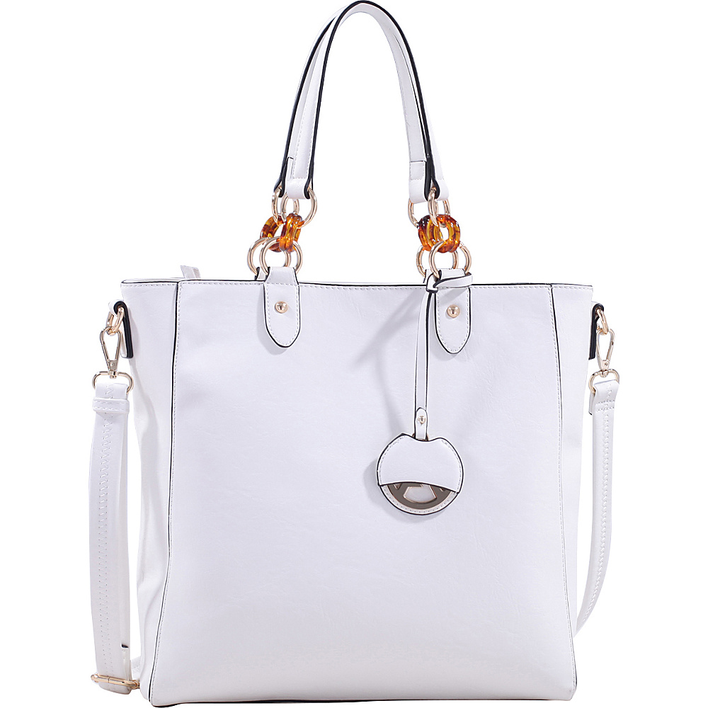MKF Collection by Mia K. Farrow Mila Tote Bag White - MKF Collection by Mia K. Farrow Manmade Handbags - Handbags, Manmade Handbags