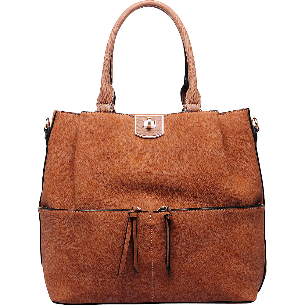 MKF Collection Paris Shoulder Tote Bag Brown - MKF Collection Manmade Handbags - Handbags, Manmade Handbags