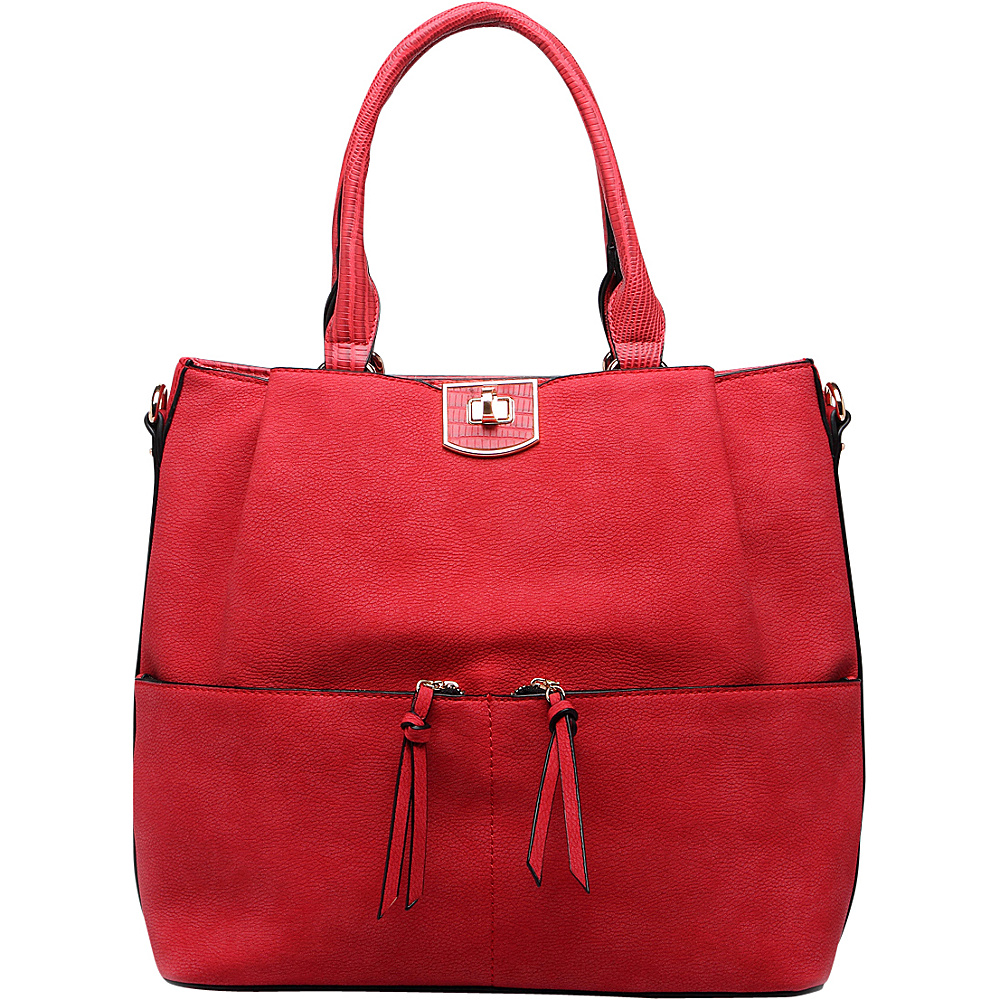 MKF Collection Paris Shoulder Tote Bag Red - MKF Collection Manmade Handbags - Handbags, Manmade Handbags