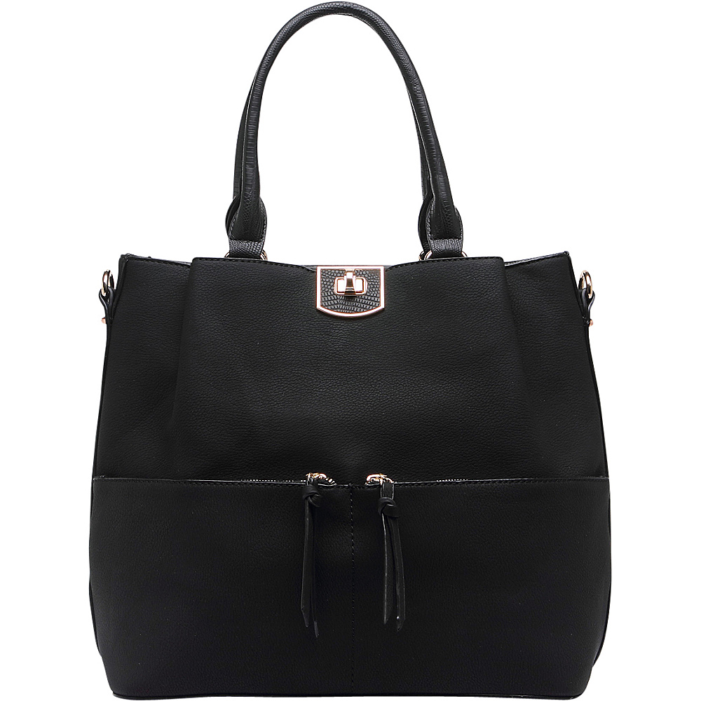 MKF Collection Paris Shoulder Tote Bag Black - MKF Collection Manmade Handbags - Handbags, Manmade Handbags