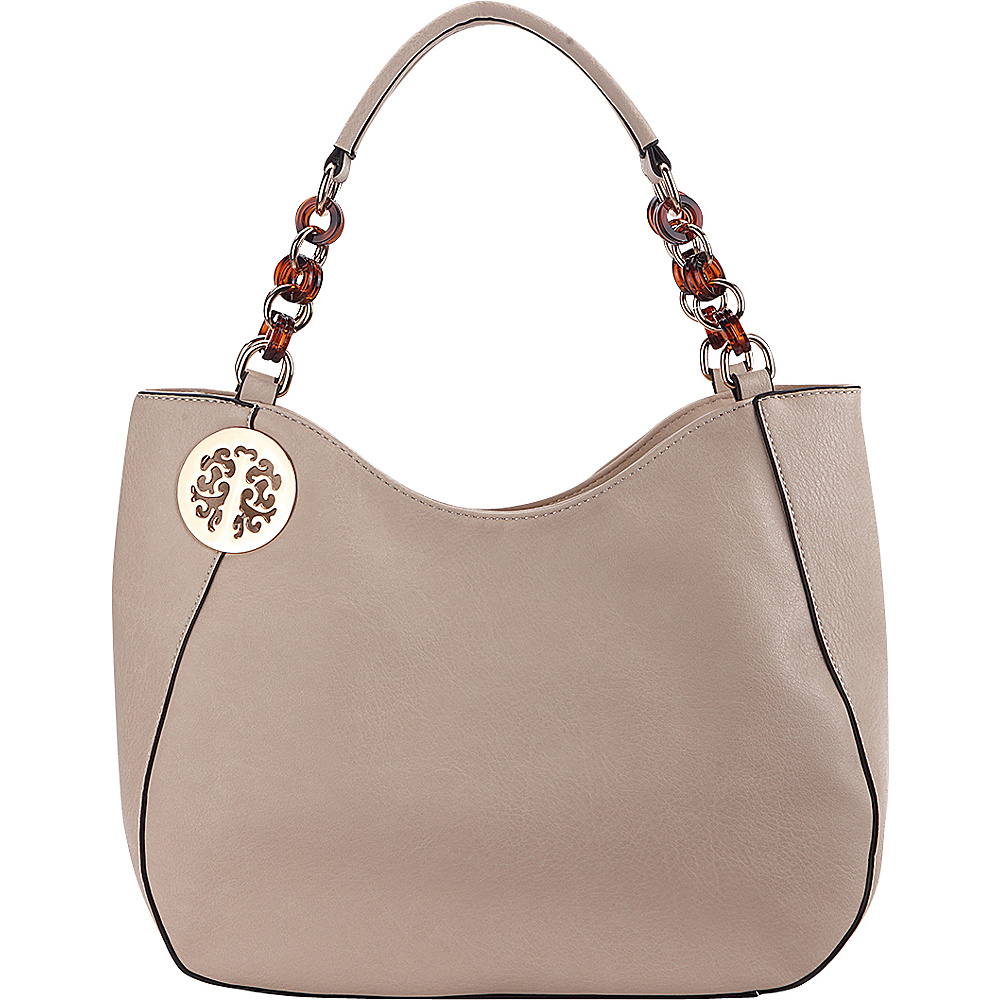 MKF Collection Cottonwood Bead Link Hobo Apricot - MKF Collection Manmade Handbags - Handbags, Manmade Handbags