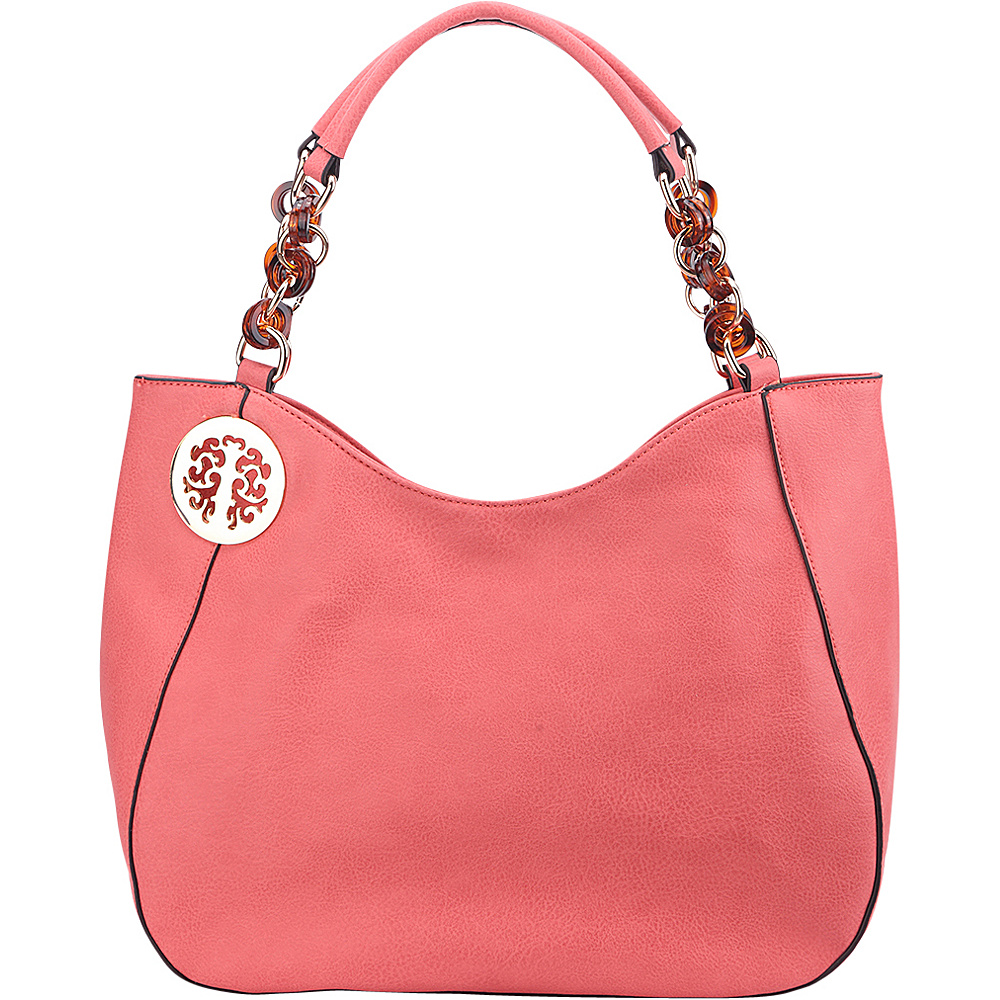 MKF Collection Cottonwood Bead Link Hobo Dusty Pink - MKF Collection Manmade Handbags - Handbags, Manmade Handbags
