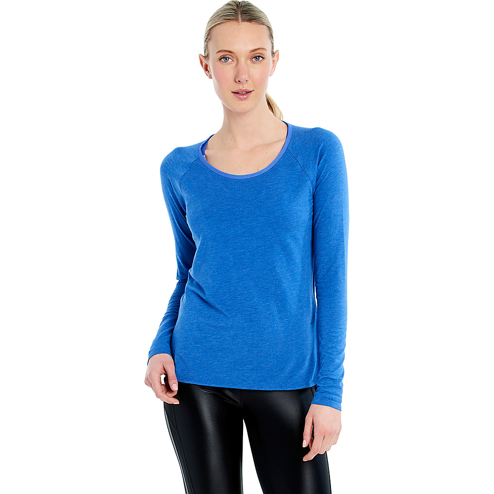 Lole Kendra Top XS - Dazzling Blue Heather - Lole Womens Apparel - Apparel & Footwear, Women's Apparel