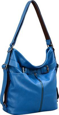 Mellow World Heather Backpack Blue - Mellow World Manmade Handbags