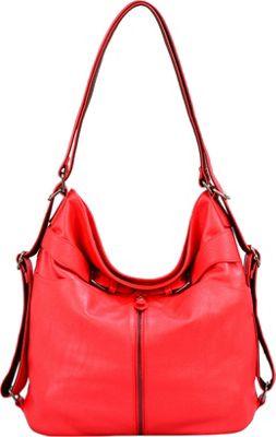 Mellow World Heather Backpack Red - Mellow World Manmade Handbags