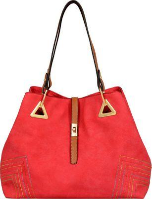 Mellow World Alba Shoulder Bag Red - Mellow World Manmade Handbags