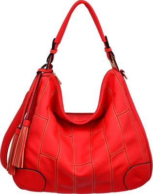Mellow World Krista Hobo Red - Mellow World Manmade Handbags