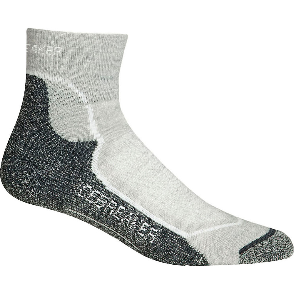 Icebreaker Womens Hike+ Light Mini Sock S - Blizzard Heather/White/Oil - Icebreaker Womens Legwear/Socks - Apparel & Footwear, Women's Legwear/Socks