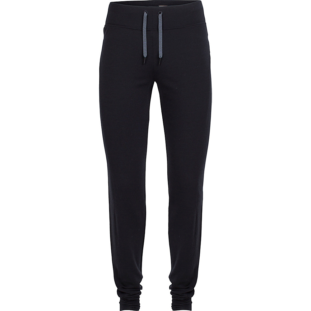 Icebreaker Womens Zoya Pants M - Black/Black - Icebreaker Womens Apparel - Apparel & Footwear, Women's Apparel