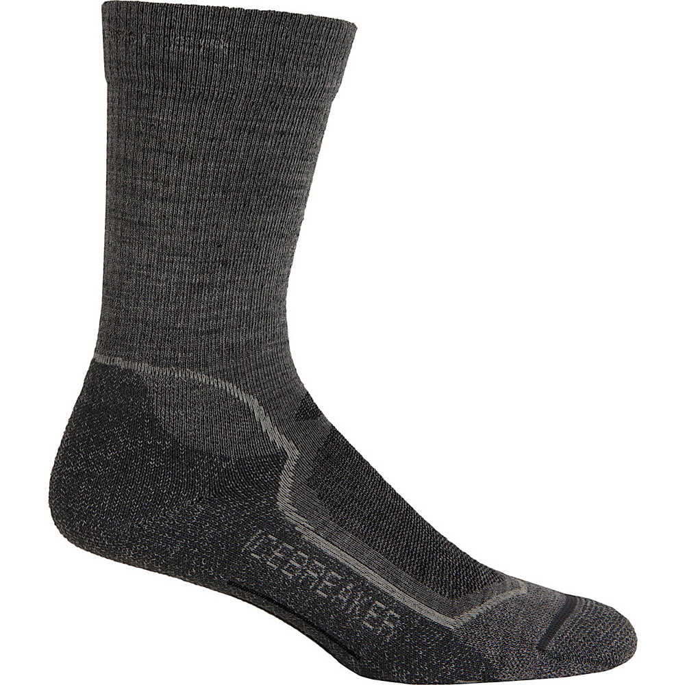 Icebreaker Mens Hike+ Light Crew Sock M - Twister Heather/Silver/Oil - Icebreaker Legwear/Socks - Fashion Accessories, Legwear/Socks