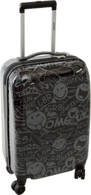Smiley Stealth 22 inch Spinner Black - Smiley Kids' Luggage