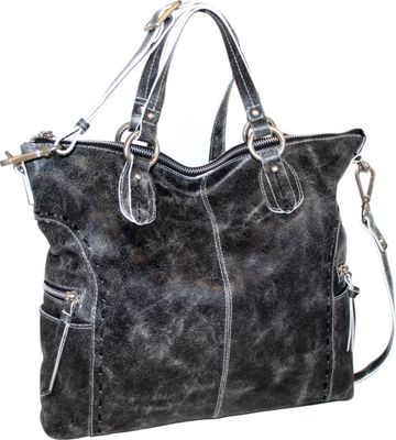 Nino Bossi Abbey Tote Black - Nino Bossi Leather Handbags