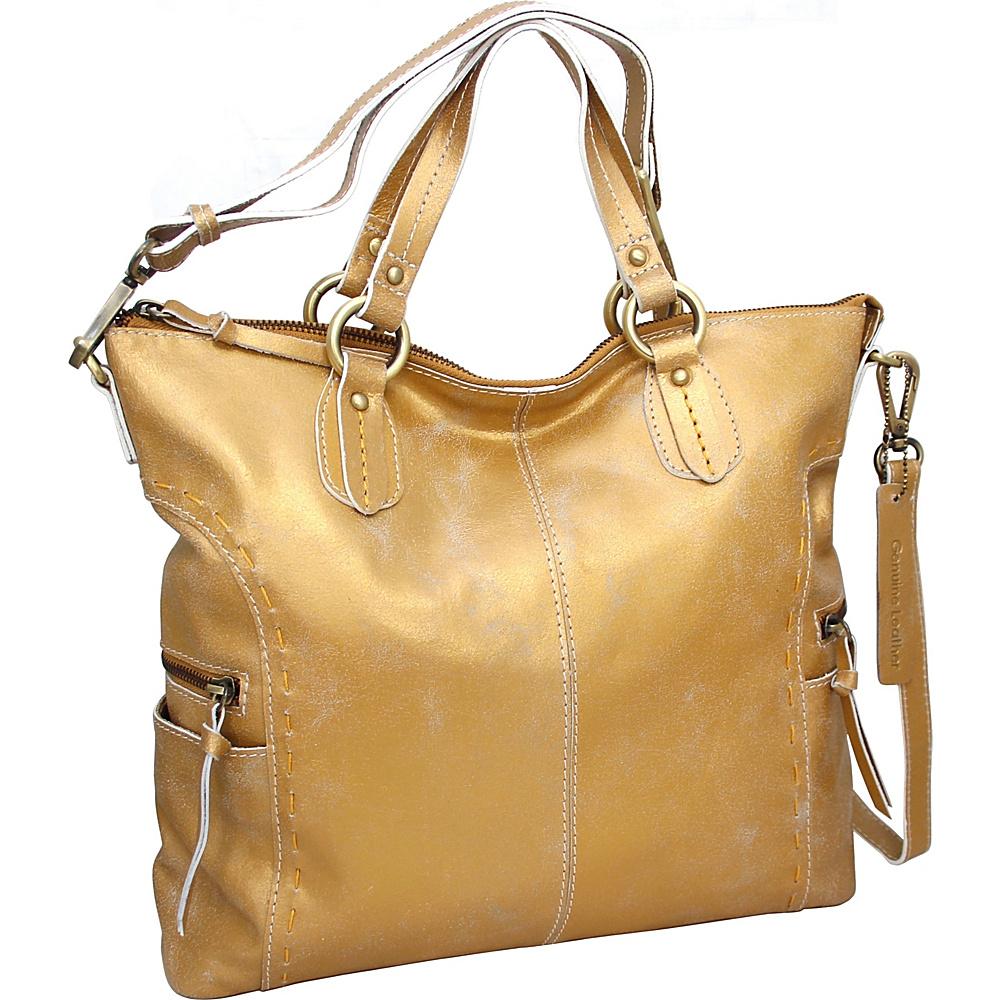 Nino Bossi Abbey Tote Gold - Nino Bossi Leather Handbags - Handbags, Leather Handbags