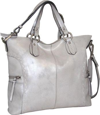 Nino Bossi Abbey Tote Silver - Nino Bossi Leather Handbags