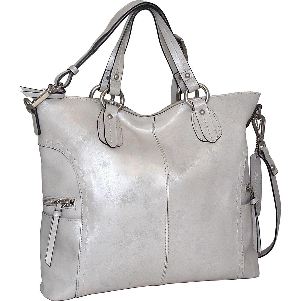Nino Bossi Abbey Tote Silver - Nino Bossi Leather Handbags - Handbags, Leather Handbags