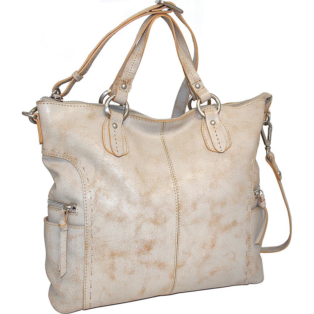 Nino Bossi Abbey Tote White - Nino Bossi Leather Handbags - Handbags, Leather Handbags