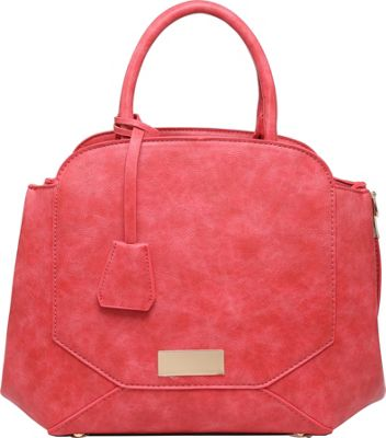 SW Global Cerise Satchel Red - SW Global Manmade Handbags