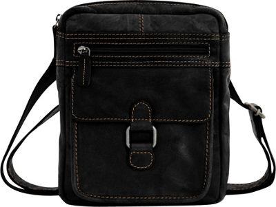 Jack Georges Voyager Crossbody Black - Jack Georges Messenger Bags