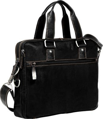 Jack Georges Voyager Double-entry Top Zip Briefcase Black - Jack Georges Non-Wheeled Business Cases