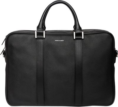 Hook & Albert Hook & Albert Leather Structured Briefcase Black - Hook & Albert Non-Wheeled Business Cases