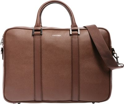 Hook & Albert Leather Structured Briefcase Brown - Hook & Albert Non-Wheeled Business Cases