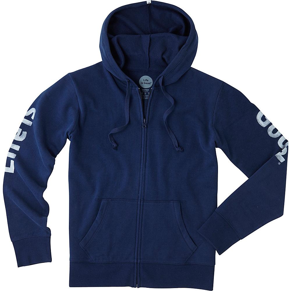 Life is good Womens Go-To Zip Hoodie XS - Darkest Blue - Life is good Womens Apparel - Apparel & Footwear, Women's Apparel