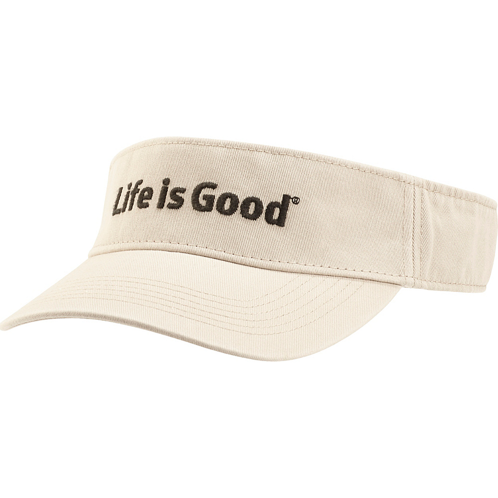 Life is good Visor LIG Branded One Size - Bone - Life is good Hats/Gloves/Scarves - Fashion Accessories, Hats/Gloves/Scarves