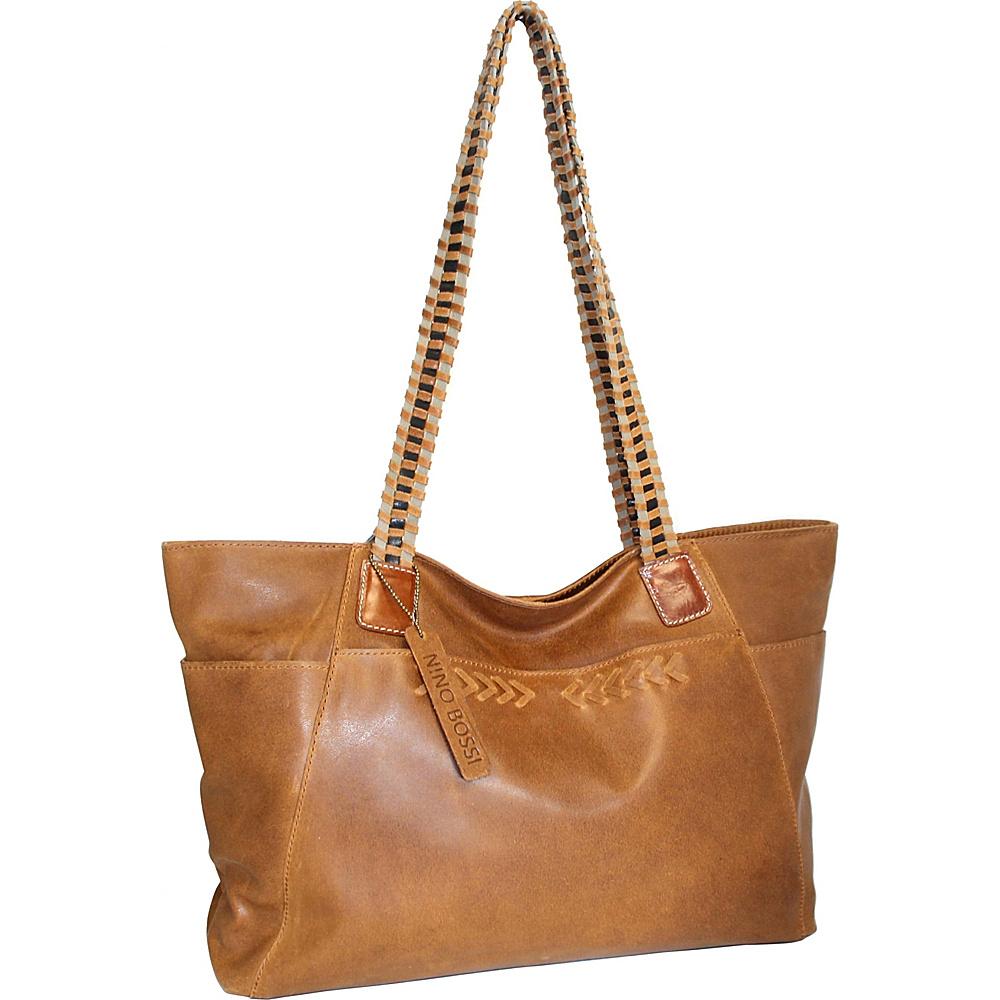 Nino Bossi Paloma Leather Tote Saddle - Nino Bossi Leather Handbags - Handbags, Leather Handbags