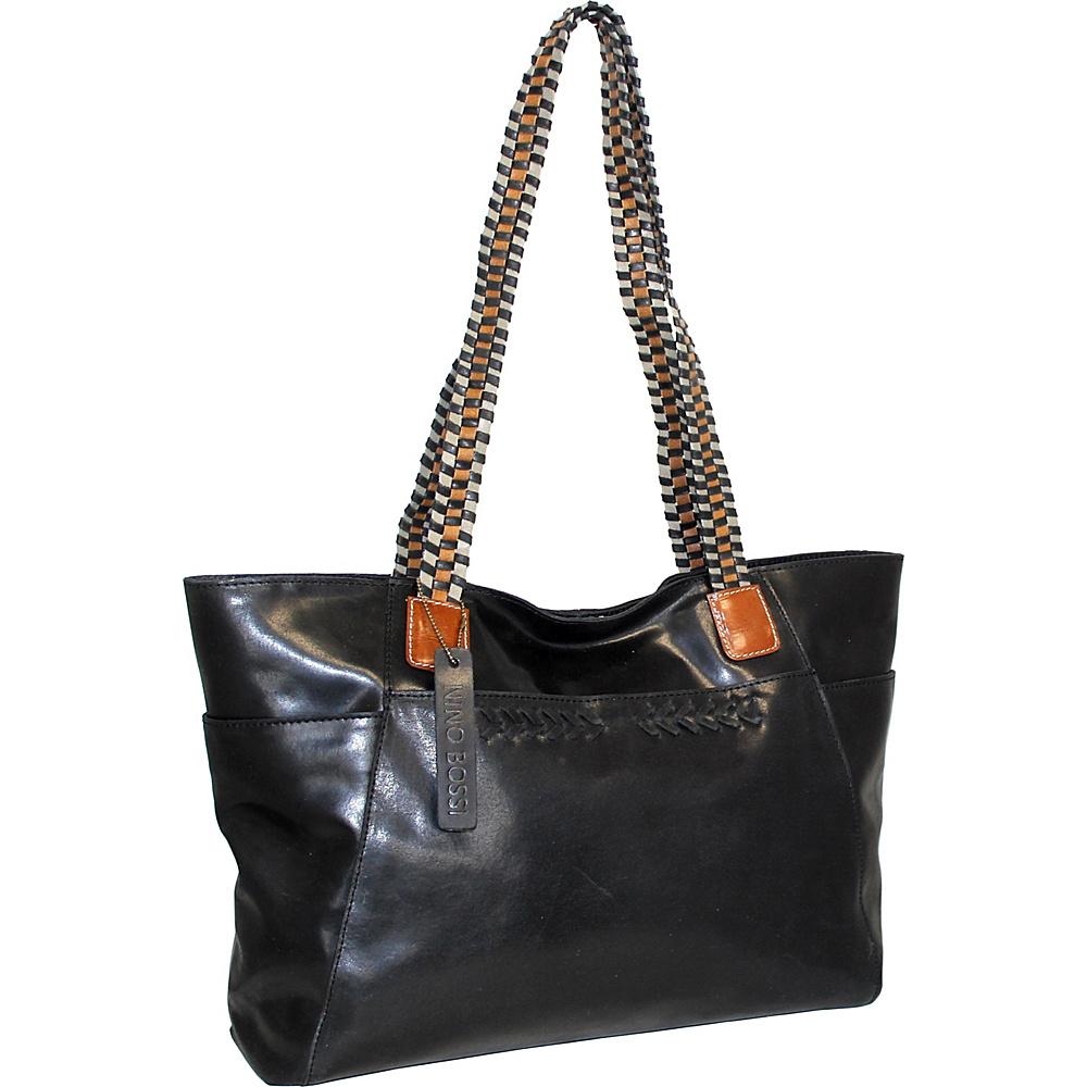 Nino Bossi Paloma Leather Tote Black - Nino Bossi Leather Handbags - Handbags, Leather Handbags