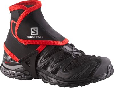 Salomon Trail Gaiters High Black/Bright Red - Salomon Sports Accessories