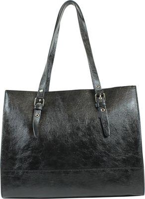 Emilie M Dakota Shopper Black - Emilie M Manmade Handbags