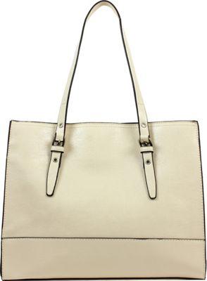 Emilie M Dakota Shopper Ivory - Emilie M Manmade Handbags