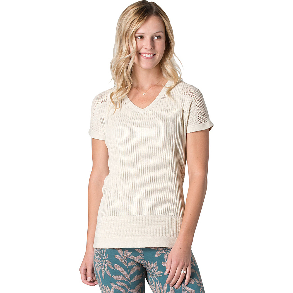 Toad & Co Floreana Short Sleeve Sweater S - Salt - Toad & Co Womens Apparel - Apparel & Footwear, Women's Apparel