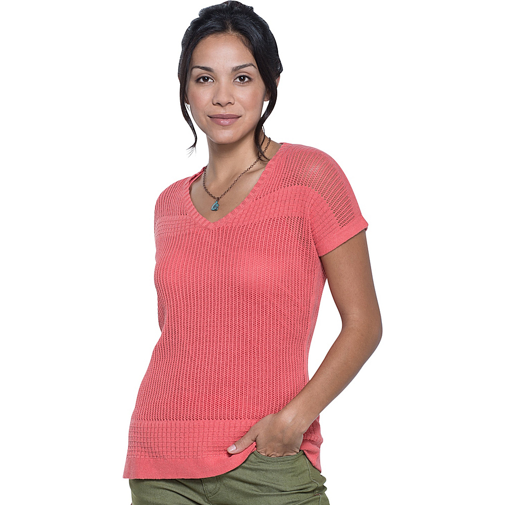 Toad & Co Floreana Short Sleeve Sweater S - Spiced Coral - Toad & Co Womens Apparel - Apparel & Footwear, Women's Apparel