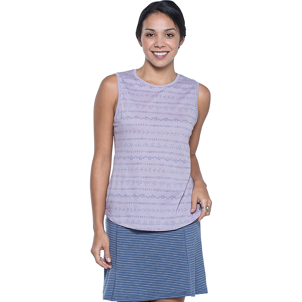 Toad & Co Tissue Vented Tank XS - Nirvana Line Print - Toad & Co Womens Apparel - Apparel & Footwear, Women's Apparel