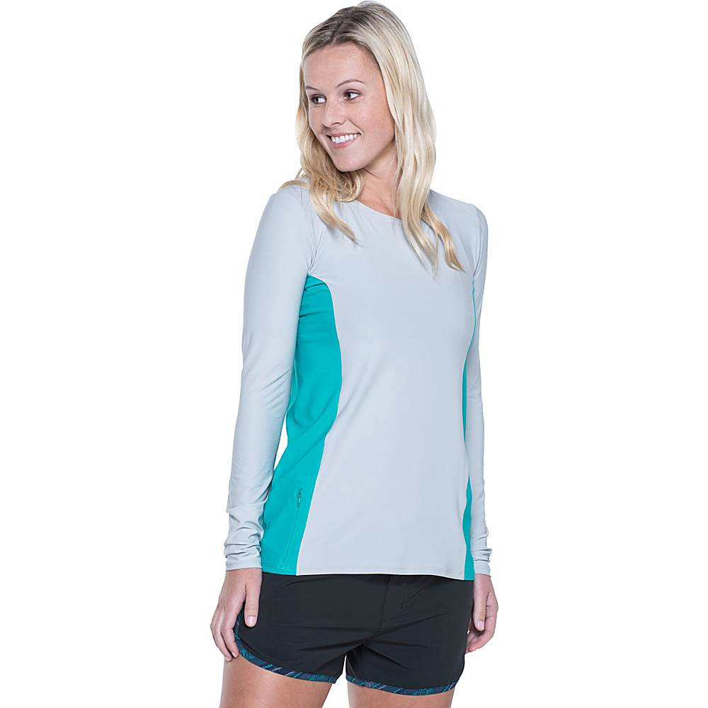 Toad & Co Sola Long Sleeve Shirt XS - Chrome - Toad & Co Womens Apparel - Apparel & Footwear, Women's Apparel