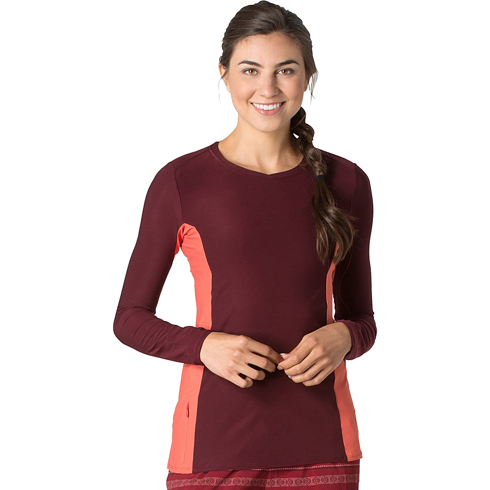 Toad & Co Sola Long Sleeve Shirt XS - Sangria - Toad & Co Womens Apparel - Apparel & Footwear, Women's Apparel