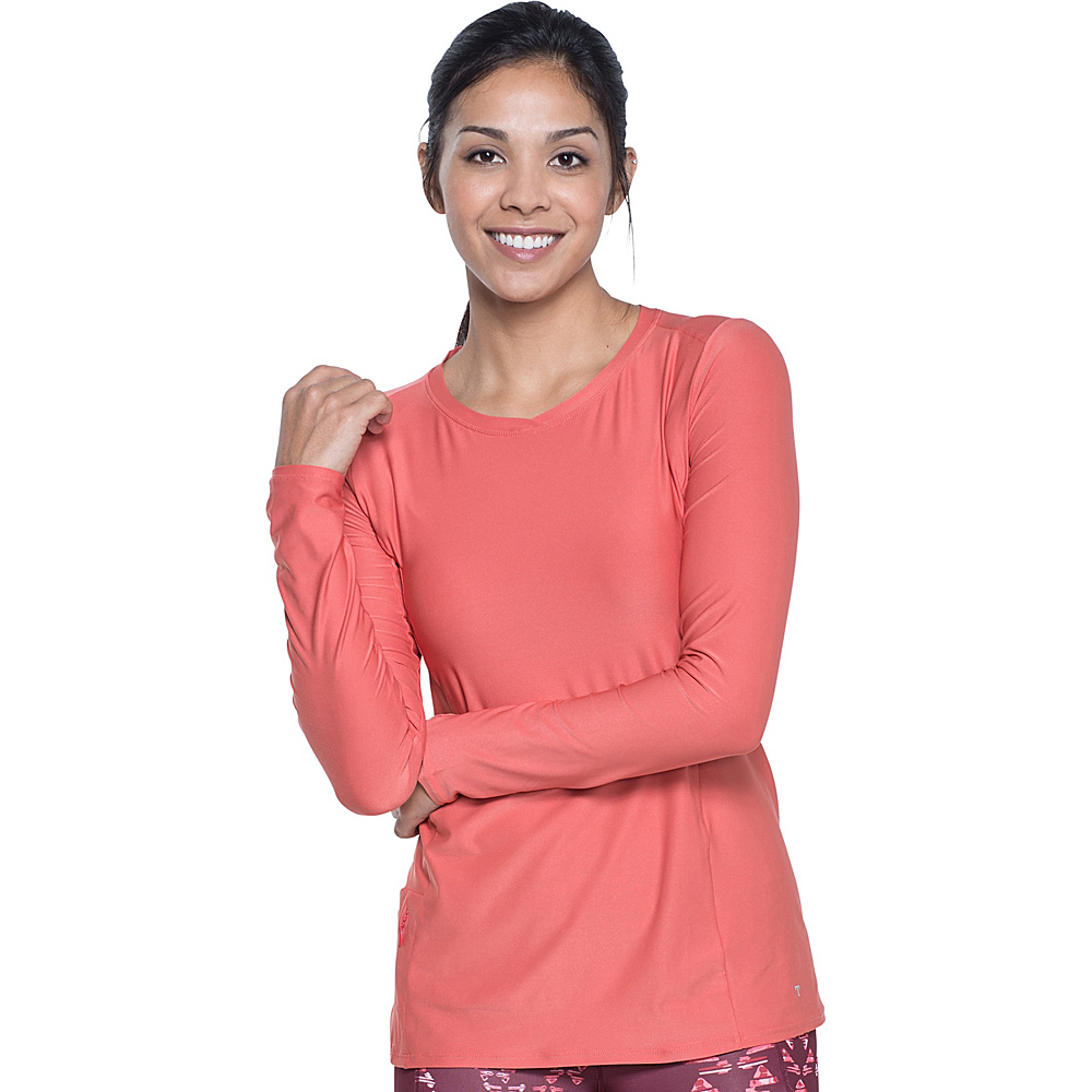 Toad & Co Sola Long Sleeve Shirt XS - Spiced Coral - Toad & Co Womens Apparel - Apparel & Footwear, Women's Apparel