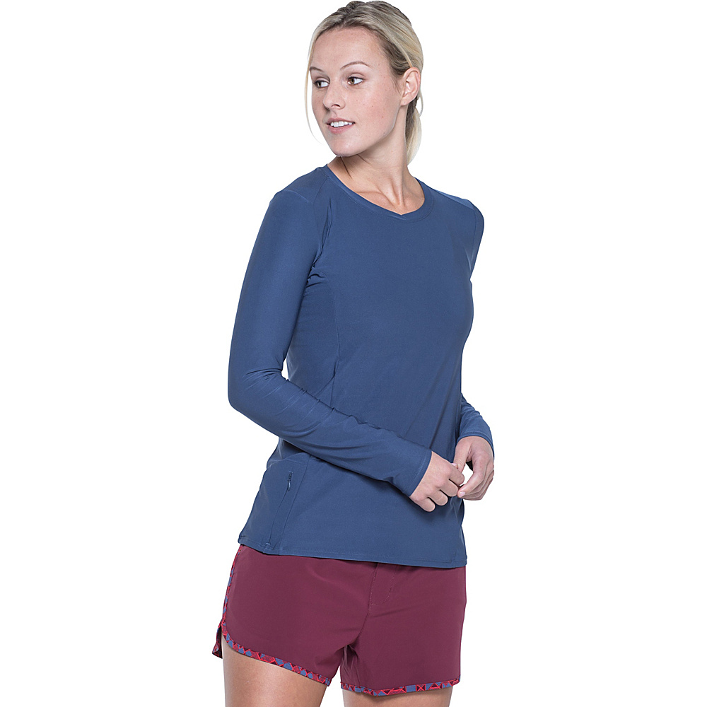 Toad & Co Sola Long Sleeve Shirt XS - Indigo - Toad & Co Womens Apparel - Apparel & Footwear, Women's Apparel