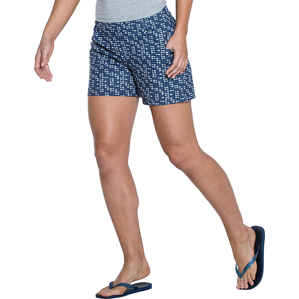 Toad & Co Jetlite Short L - 5in - Deep Navy Flag Print - Toad & Co Womens Apparel - Apparel & Footwear, Women's Apparel