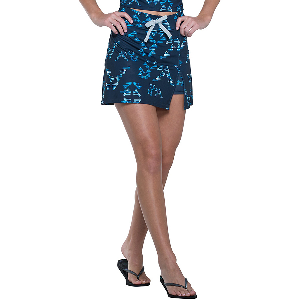 Toad & Co Aquaflex Skort XS - 5in - Deep Navy Water Print - Toad & Co Womens Apparel - Apparel & Footwear, Women's Apparel